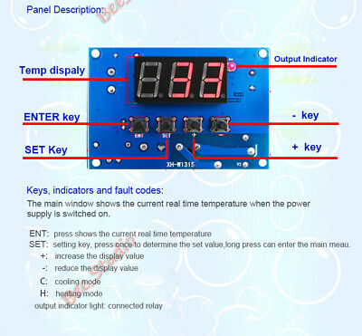 DC 12V High Temperature K-Thermocouple Digital Thermostat Temp Controller Switch 6