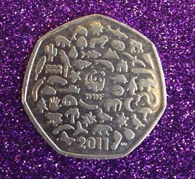 2011 Wwf 50P Coin 2