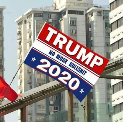 3x5 Ft Trump 2020 No More BS President Donald MAGA Flag US Red & Blue B 3