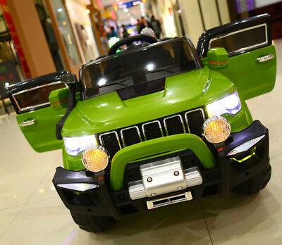 Auto Elettrica Per Bambini Macchina Jeep 2 Posti 4Wd 12V Con Telecomando Usb Mp3 2