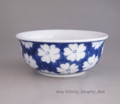 Fine Chinese Blue and white Flowers Porcelain Teacup 2