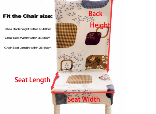 Kitchen Bar Dining Chair Cover Hotel Restaurant Seat Covers Wedding Part Decor 5