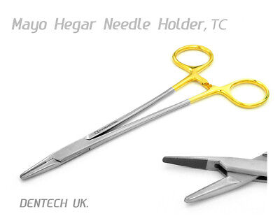 Tc Mayo Hegar Needle Holder Forceps 18 Cm Dental Surgical Instrument Tungsten 3
