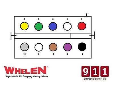 whelen power supply wiring diagram whelen ups690 strobe power supply 10 pin plug cable connector wire  whelen ups690 strobe power supply 10