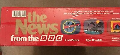 """Vintage New Sealed Board Game """"The News From The BBC""""  Great Games Company 1987 7"""