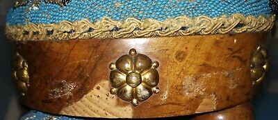 A Pair Of Antique Beaded Foot Stools 8