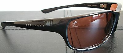 8dbeebfcb3bc 4 of 11 Serengeti 6752 Cascade Sunglasses Drivers Lens Shiny Black Frame  New w/Case Box