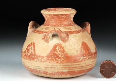 Myceanaean Pottery Pyxis w/ Three Handles Lot 12B