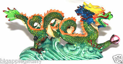 "NEW COLOR Chinese Feng Shui Dragon Figurine Statue for Luck & Success 6"" LONG 4"
