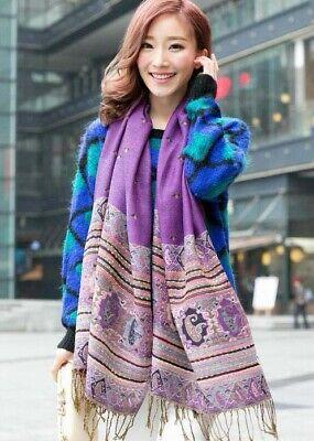 US SELLER- 20 Discount Scarves retro paisley peacock wholesale pashmina shawls 2