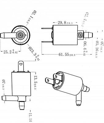 small Mini DC 12V Air Gas Solenoid valve Discouraged  Normally closed