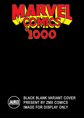 Marvel Comics #1000 Sketch Cover  Black Blank Variant 1/2/4 2