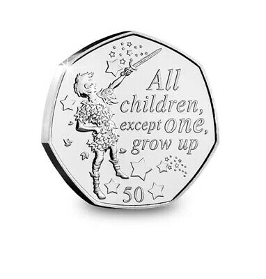 UNC Peter Pan 50p Set From IOM Bags 3