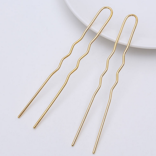 NEW 10X large U-shaped wave Hairpin Retro iron jewelry accessories 100MM 3