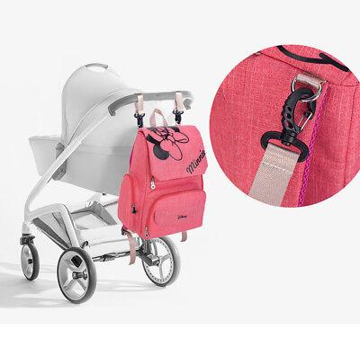 DISNEY Mickey Minnie Baby Maternal Stroller Maternity Nappy Bag 11