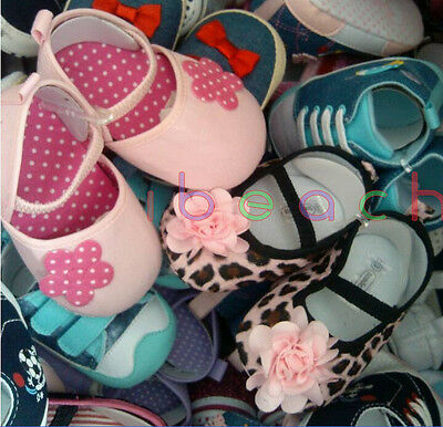 Wholesale Infant Baby Boy Girl First Crib Shoes Job Lots Newborn to 18 Months 3