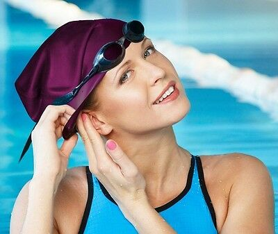Adult Swimming Hat Silicone Elastic Flexible Durable Ladies Gents Swim Cap UK 3