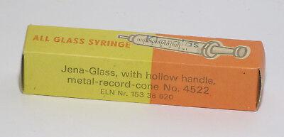 refila Spritze Jena-Glas 5 cm³  DDR neu No. 4522 3