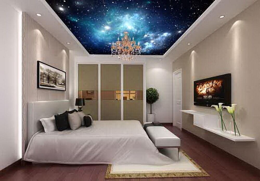 3d Starry Sky Galaxy Space Wallpaper Ceiling Decals Wall Art