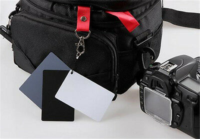 Digital Color Balance 18% Gray Card 3in1 Black Grey White For Photography Studio 8