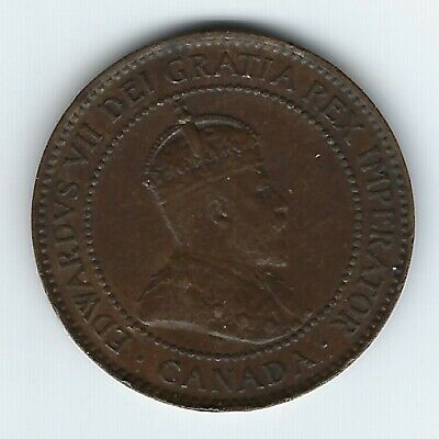 Canada 1907-H Large Cent XF 2