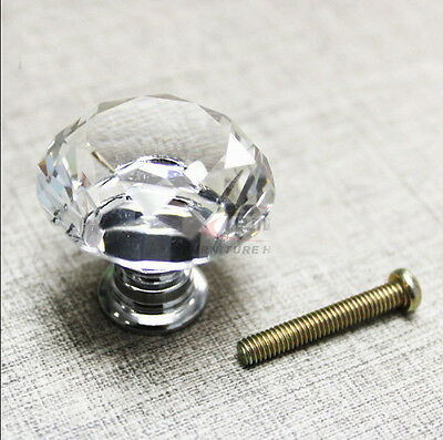 10 zinc alloy clear glass crystal sparkle cabinet drawer door pulls knobs handle 10 • CAD $14.60