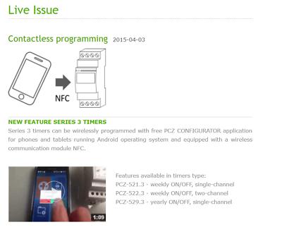 F&F Pcz-529.3 Programmierbare Digitale Jahreszeitschaltuhr Nfc 24V ÷ 264V Ac/Dc 9