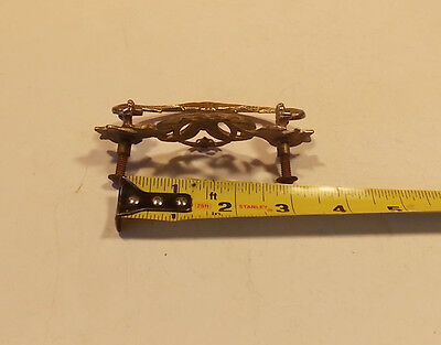 One Vintage Ornate Brass pull 2