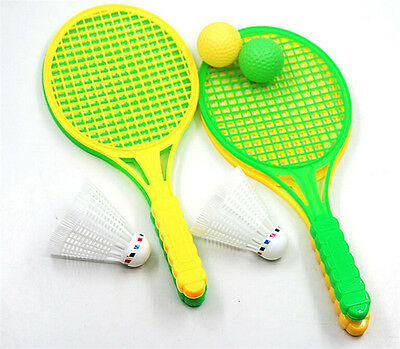 1pair Child Badminton Tennis Racket Baby Sports Bed Toy Educational Toys 。 5