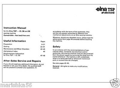 1 of 2free shipping elna tsp 58 air electronic instruction manual on cd in pdf format