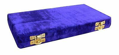 Antique Brass Polished Balance Scale with Velvet Box with Weights Jewelry NEW 4