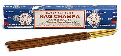 3 Packs Original Satya Sai Baba Nag Champa Incense Sticks  Joss Insense Genuine 2