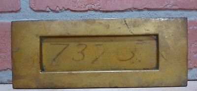 Antique Brass Hinged Mail Letter Slot Architectural Hardware Cover