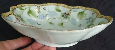 ANTIQUE EARLY Hand Painted MORIAGE Japanese PORCELAIN BOWL MADE IN JAPAN 4