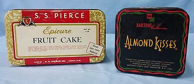 Vintage Advertising Tins Lithograph Epicure Fruit Cake And Barton's Almond Kiss 10