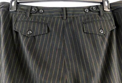 Lane bryant black brown striped single flap pocket dressy carpri pants 22 2