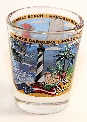 North Carolina State Wraparound Shot Glass Shotglass 2