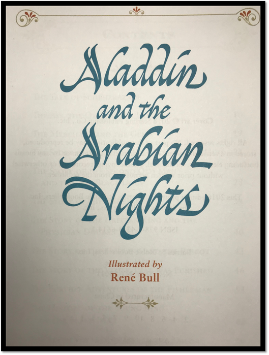 Aladdin & the Arabian Nights New Sealed Leather Bound Illustrated Gift Hardback 7