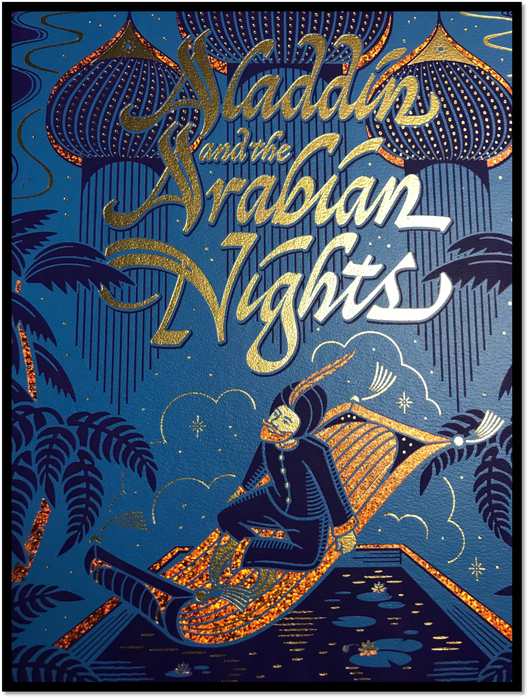 Aladdin & the Arabian Nights New Sealed Leather Bound Illustrated Gift Hardback 6