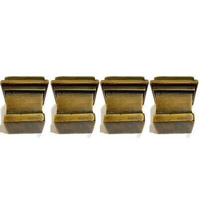 4 sabot square small solid Brass foot castors chair table old style 19 mm cup B 3