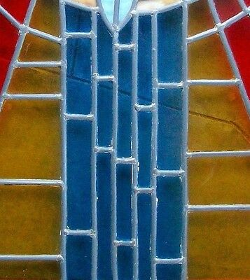 Vintage Church Stained Glass Window Salvage Bird Leaded HOLY SPIRIT DOVE Peace 6