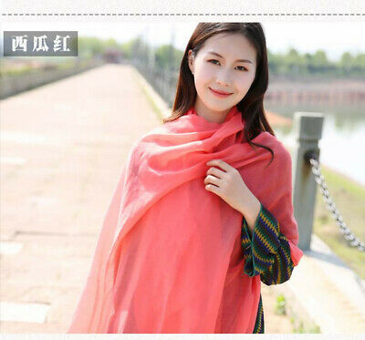US Seller- 12 Discount Scarf scarves plain casual light weight shawls wholesale 8