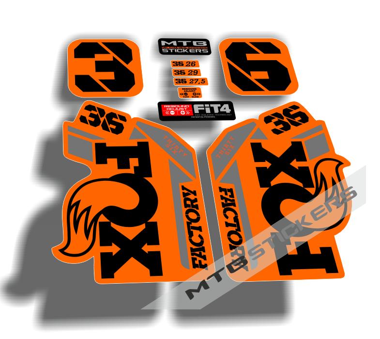 New custom FOX 36 2021 stickers decals mtb bike
