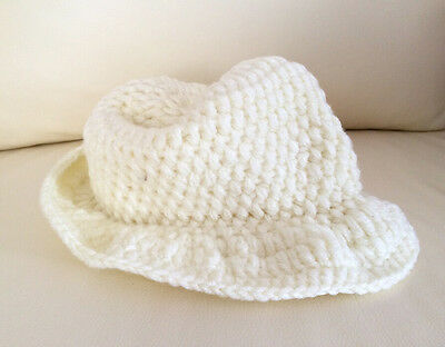 d2eee069d73fb ... HANDMADE Newborn Baby Boy Crochet Knit Fedora Hat   Ginger Yellow   Photo Prop 9