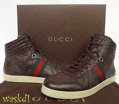 20ec54d41e5 2 of 6 GUCCI Mens 9.5G  brown CODA GUCCISSIMA leather High Top Sneakers NIB  Authen  595