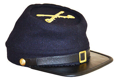 American Civil War Acw  Enlisted Union Cavalry Kepi With Badge Large 58//59cms