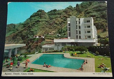 Antigua Postal Bajamar Tenerife Hotel Neptuno Islas Canarias Postcard    Cc03719