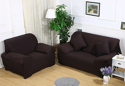Universal Stretch Chair Sofa Covers 1 2 3 4 Seater Protector Couch Slipcover US 7