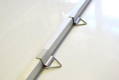 ICT Lavagna Bianca Magnetica 50x70cm CANCELLABILE Cornice Alluminio