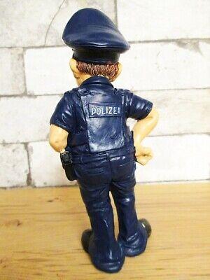 Deutscher Polizist Polizei lustige Funny Beruf Figur Profession 18 cm Neu